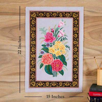 Pretty Flower Petal Silk Painting