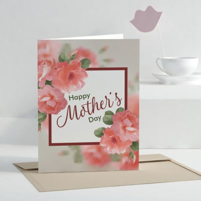 Pretty Mother's Day Personalized Greeting Card