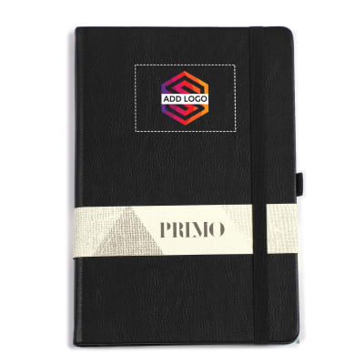 Primo A5 Black Premium Diary - Customized with Logo