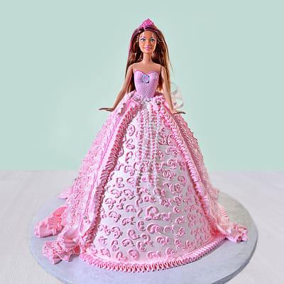 Princess Barbie Cream Cake (2.5 Kg)