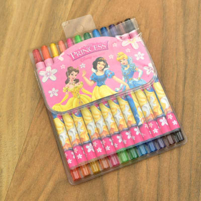 Princess Pack of 12 Color Crayons