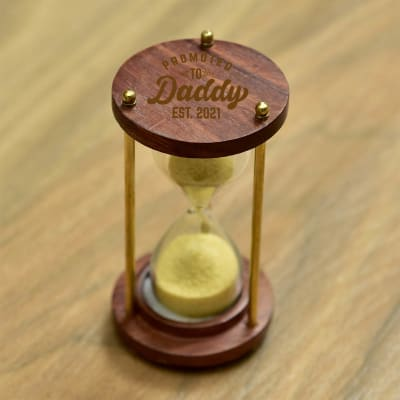 Promoted To Daddy Hourglass Sand Timer