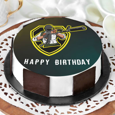 Strange Order Pubg Birthday Cake Half Kg Online At Best Price Free Birthday Cards Printable Riciscafe Filternl