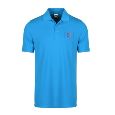 Puma Blue Polo T-Shirt - Customized With Logo