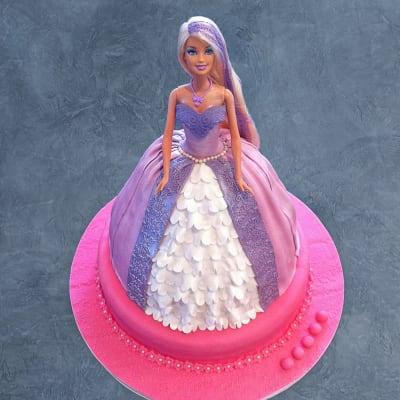 Purple Princess Barbie Cake (2.5 Kg)