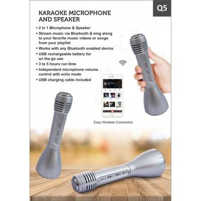 Q5 Karaoke Microphone and Speaker