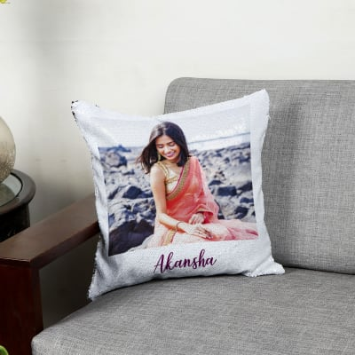 Queen Personalized Magic Reveal Sequin Cushion