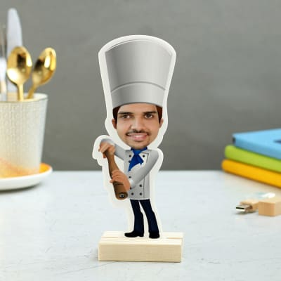 Quirky Personalized Chef Caricature