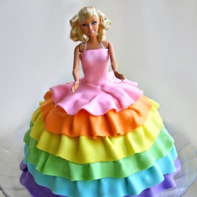 Rainbow Barbie Fondant Cake (3 Kg)