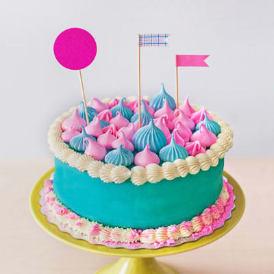 Rainbow Fondant Cake (4 Kg)