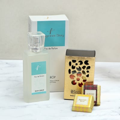 Raindrop Fragrance with Chocolate Hamper