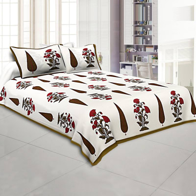 Rajasthani Block Print Bed Sheet Set