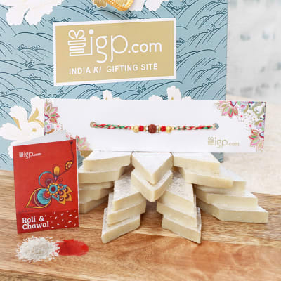 Rakhi Hamper with Kaju Katli