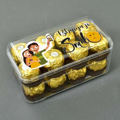 Rakhi Special Customized Ferrero Chocolates (16 Pcs.)