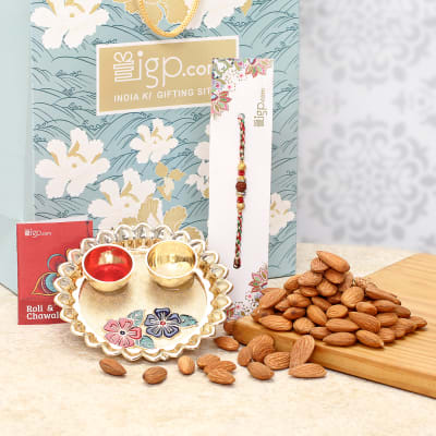 Rakhi with Dry Fruits Hamper
