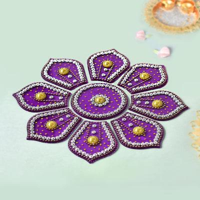 Rangoli Design in Purple