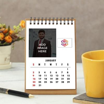 Rectangular Calendar - Customizable with Image & Logo