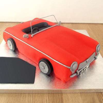 Red Cadillac Birthday Fondant Cake (Eggless) (3 Kg)