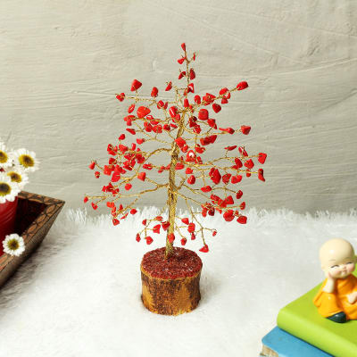 Red Color Stone Wishing Tree