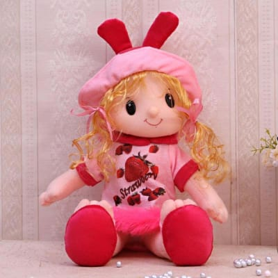 Red & Pink Doll for Kids