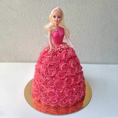 Red Rose Dress Barbie Cake (2 Kg)