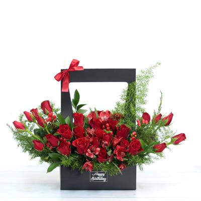 Red Roses Stunning Presentation