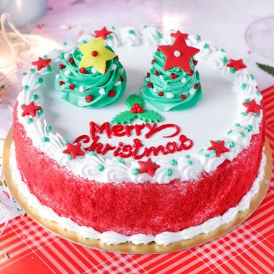 Red Velvet Christmas Cake (Half Kg)