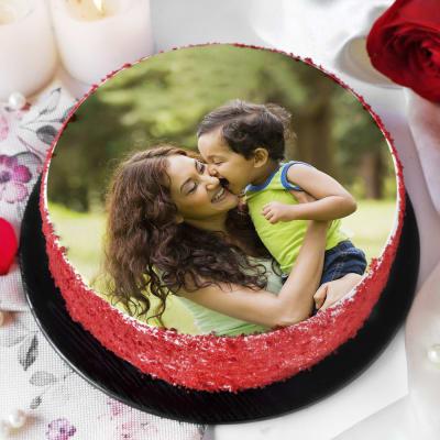 Red Velvet Photo Cake for Kids (Half Kg)