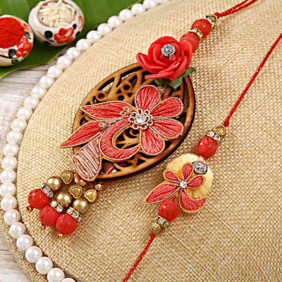 Send gifts to singapore online gifts rakhi delivery to singapore resham embroidered bhaiya bhabhi rakhi set negle Choice Image