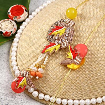 Resham Embroidered Bhaiya Bhabhi Rakhi Set