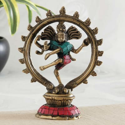 Revered Nataraja Brass Idol