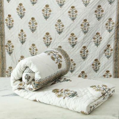 Reversible Cotton Quilt for Double Bed