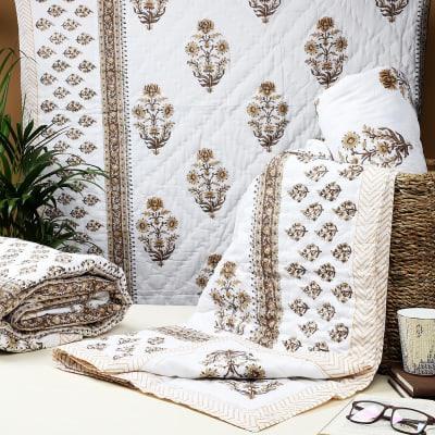 Reversible Single Bed Cotton Quilt