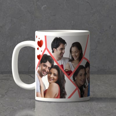 Romantic Collage Personalized White Mug