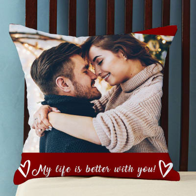 Romantic Personalized Cushion with Quote