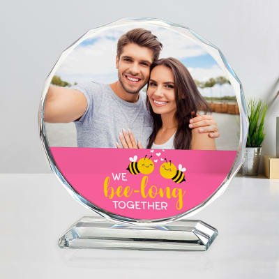 Romantic Personalized Photo Crystal