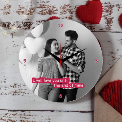 Romantic Personalized Photo Wall Clock