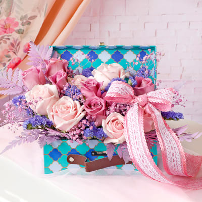 Rose Arrangement In Surprise Gift Box
