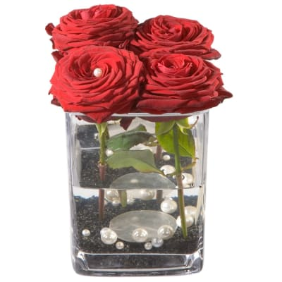 Roses 4 YOU (including vase)