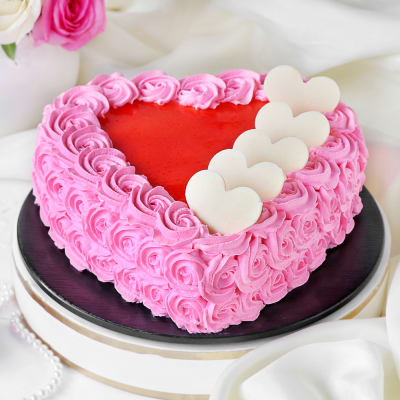 Rosette Cake with Hearts (Half Kg)