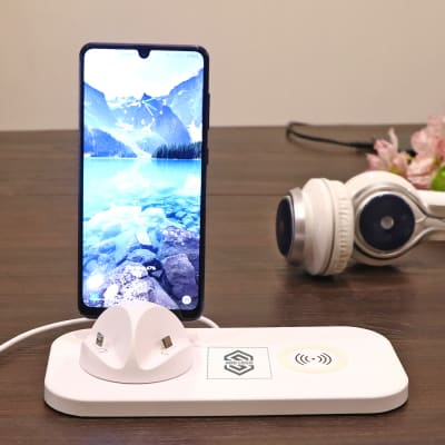 Rotating 3 in 1 Mobile Charging Station - Customized with Logo