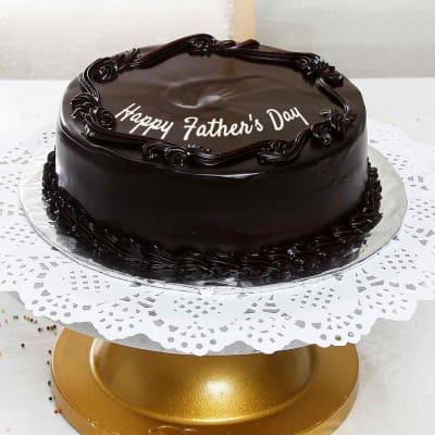Round Shaped Dark Chocolate Cake (2 Kg)