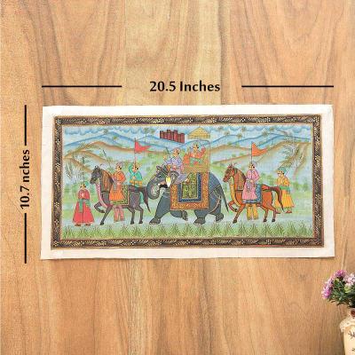 Royal Procession Silk Painting