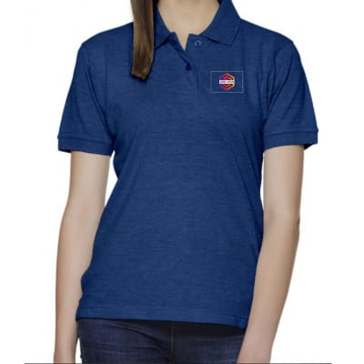 Rufty Solid Polo T-Shirt For Women - Customized With Logo