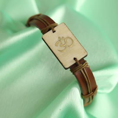 Sacred Leather Belt Om Rakhi