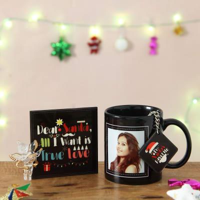 santas favorite personalized mug coaster hamper - Presents For Girlfriend Christmas