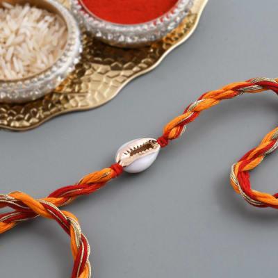 Seashell Zari And Moli Rakhi