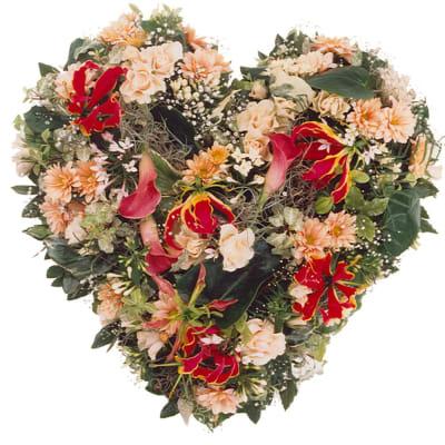 Seasonal Flower Heart (For the Cemetery)