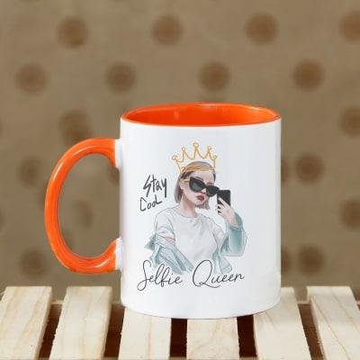 Selfie Queen Personalized Mug