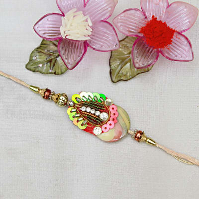 Send gifts to uk from india best gifts to london free gift sequenced paisley rakhi negle Images